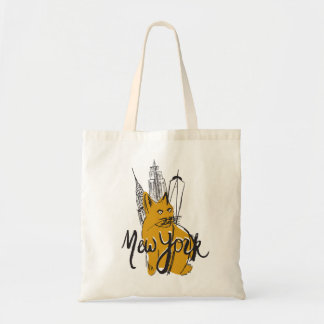 Mew (New) York City NYC Kitty Tote Bag