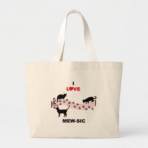 Mew-sic Tote Bags