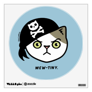 Mew-tiny Kitty Cat Pirate Wall Sticker