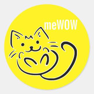 meWOW Cat Yellow Good Job Customizable Sticker