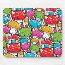 Mewshroom Kitty Cat Mushroom pattern mouse pad