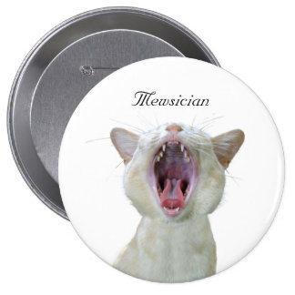 Mewsician 4 Inch Round Button