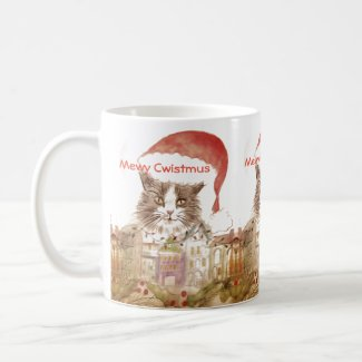 Mewy Cwistmus Merry Christmas Mug