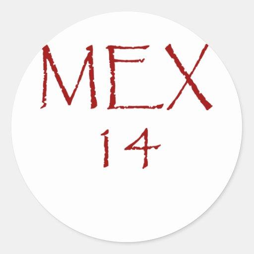 MEX14 ROUND STICKERS