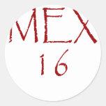 MEX16 PEGATINAS REDONDAS