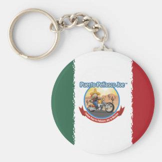 Mexcian Flag Basic Round Button Keychain