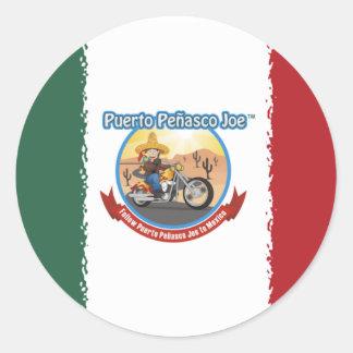 Mexcian Flag Classic Round Sticker