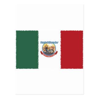 Mexcian Flag Postcard