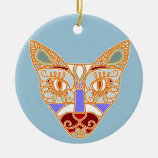 Mexicalli Cat in Blue Ceramic Ornament