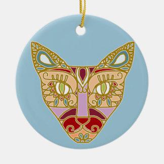 Mexicalli Cat in Lavender Ceramic Ornament