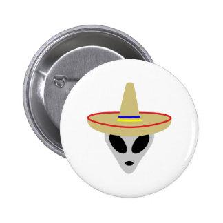 mexican alien sombrero button