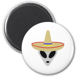 mexican alien sombrero fridge magnet