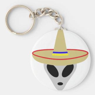 mexican alien sombrero keychain