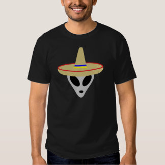 mexican alien sombrero shirt