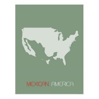 Mexican America Postcard