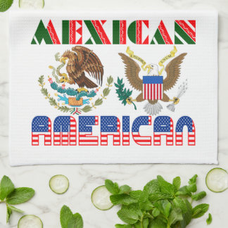 Mexican American Eagles Hand Towels