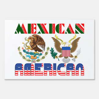 Mexican American Eagles Yard Signs