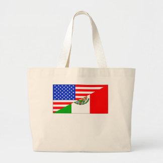 Mexican American Flag Jumbo Tote Bag