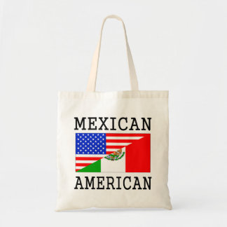Mexican American Flag Budget Tote Bag