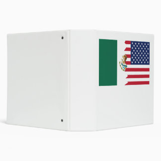Mexican American Flag Binder