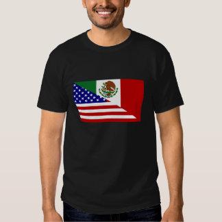Mexican American Flag. Happy Cinco de Mayo! Tshirts