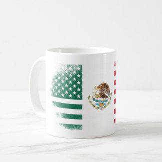 Mexican American Flag   Mexico and USA Design Coffee Mug