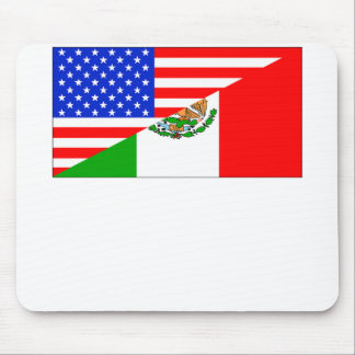Mexican American Flag Mouse Pad