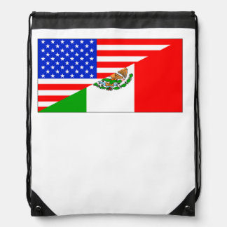 Mexican American Flag Backpack