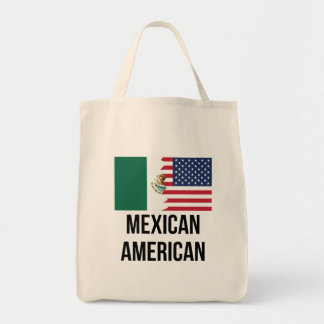 Mexican American Flag Tote Bag
