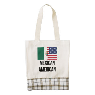 Mexican American Flag Zazzle HEART Tote Bag