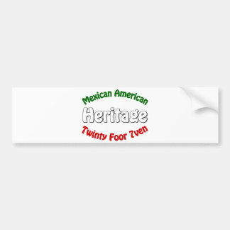 Mexican American Heritage Bumper Stickers