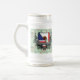Mexican-American Shield Flag Beer Stein