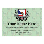 Mexican-American Shield Flag Business Card