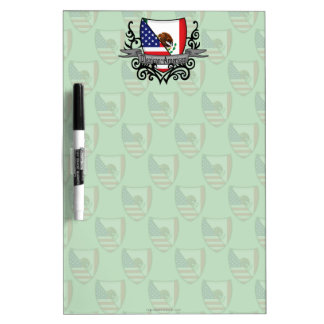 Mexican-American Shield Flag Dry Erase Whiteboards