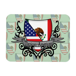 Mexican-American Shield Flag Magnet