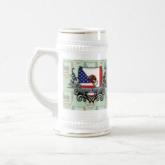 Mexican-American Shield Flag Mugs