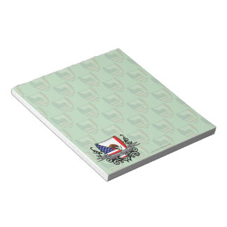 Mexican-American Shield Flag Notepad
