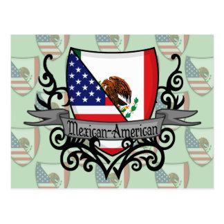 Mexican-American Shield Flag Postcard