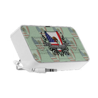Mexican-American Shield Flag iPhone Speaker
