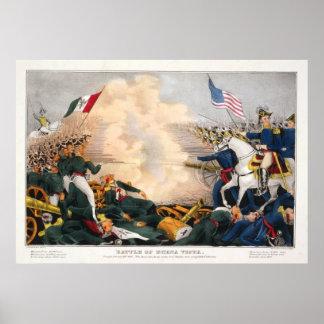 Mexican American War Battle of Buena Vista 1847 Print