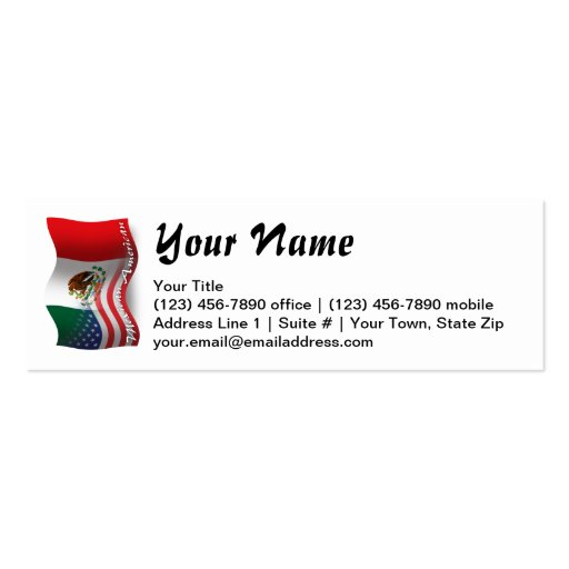Mexican-American Waving Flag Business Card