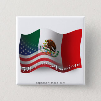 Mexican-American Waving Flag Button