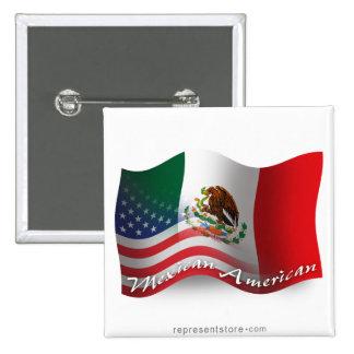 Mexican-American Waving Flag Button