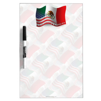 Mexican-American Waving Flag Dry-Erase Whiteboards