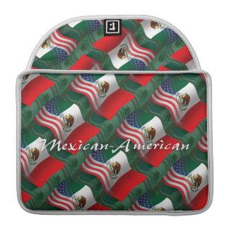 Mexican-American Waving Flag MacBook Pro Sleeve