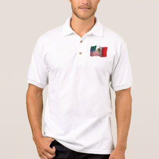 Mexican-American Waving Flag Polo Shirt