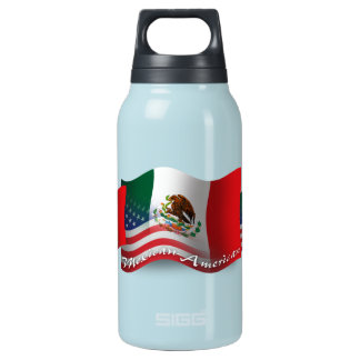 Mexican-American Waving Flag SIGG Thermo 0.3L Insulated Bottle