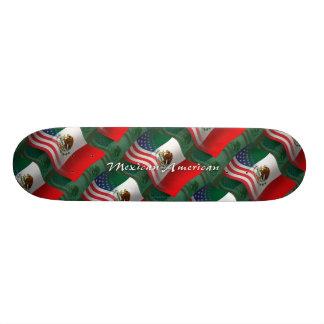 Mexican-American Waving Flag Skate Board