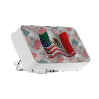 Mexican-American Waving Flag Laptop Speakers