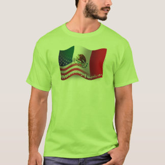 Mexican-American Waving Flag T-Shirt